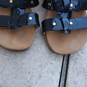 Vionic Shoes - Vionic patent leather wedge sandals- size 9
